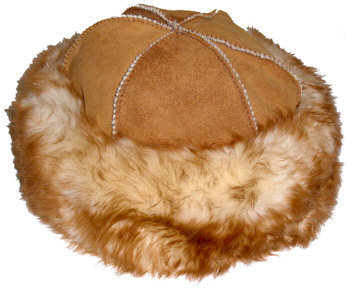 Long Hair Sheepskin Round Hat