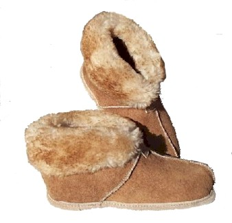 Split Cuff Sheepskin Slippers