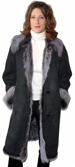 Tuscany Long Hair Shearling Coat